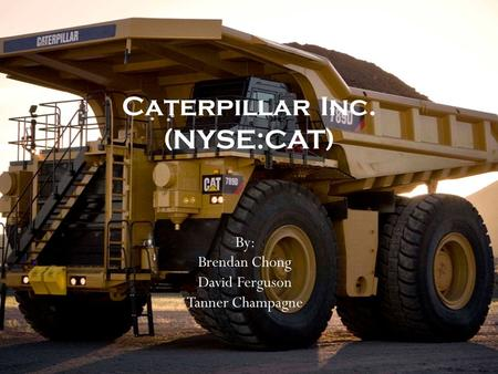 By: Brendan Chong David Ferguson Tanner Champagne Caterpillar Inc. (NYSE:CAT)
