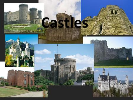 Castles. Motte and Bailey A wooden castle was built on top of a mound of earth, the Motte. A large open space was was made nearby called the Bailey. A.