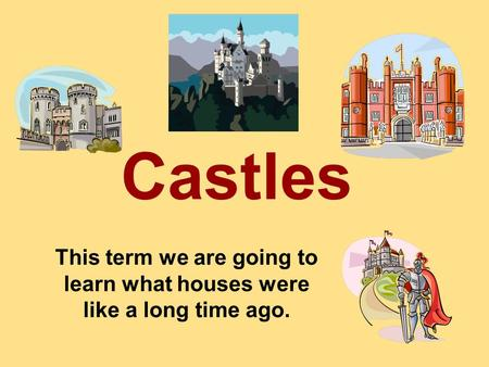 This term we are going to learn what houses were like a long time ago. Castles.