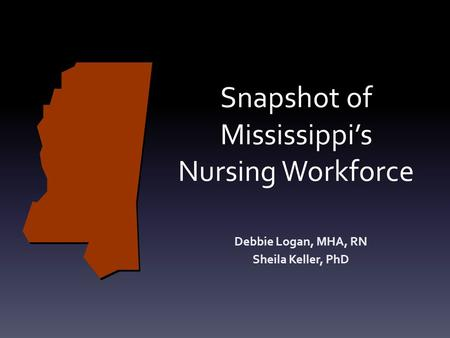 Snapshot of Mississippi's Nursing Workforce