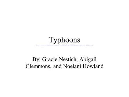 Typhoons   By: