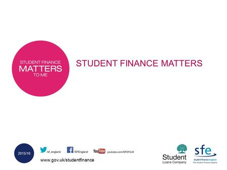 Www.gov.uk/studentfinance 2015/16 STUDENT FINANCE MATTERS.