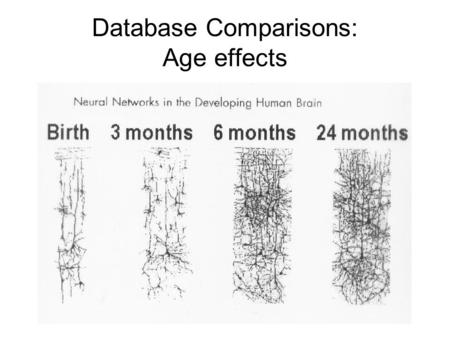 Database Comparisons: Age effects. EEG age effects by hemisphere.