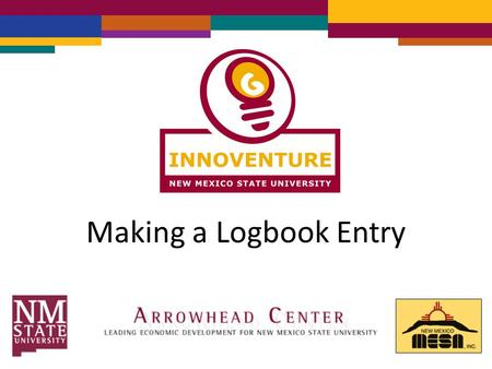 Making a Logbook Entry. Go to  Click on Sign In.