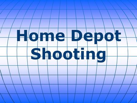 Home Depot Shooting. Sunday afternoon an employee shot a store manager and then himself in a New York Home Depot. The 38-year-old manager, who was shot.