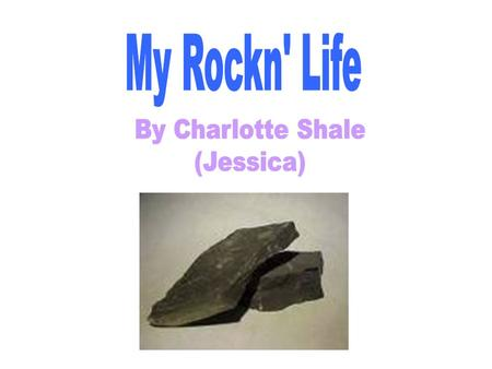 Hi, my name is Charlotte Shale. I am a Sedimentary rock called Shale, as you can see by my name. I live in Yellowstone. It is a great place to live as.