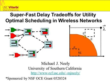 Super-Fast Delay Tradeoffs for Utility Optimal Scheduling in Wireless Networks Michael J. Neely University of Southern California