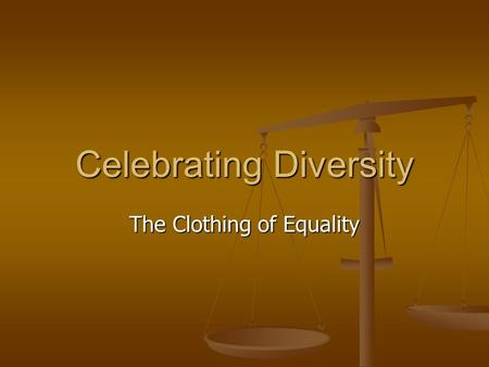 Celebrating Diversity The Clothing of Equality. Disciples of Christ Demographics 3000 Anglo congregations 3000 Anglo congregations 432 Convocation congregations.