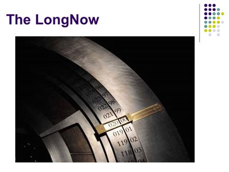 The LongNow. Why FERPA? The Sequel: Key Problems Entity Resolution Regulatory Hurdles.