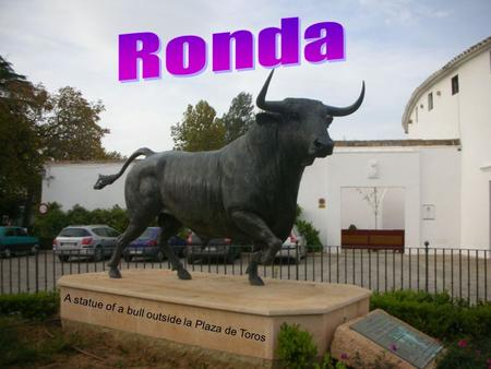 A statue of a bull outside la Plaza de Toros. Local Geography: –City in province of Málaga –located about 100 km (~62 miles) from the city of Málaga –within.