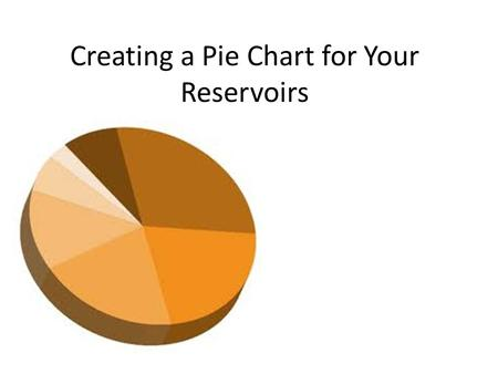 "Creating a Pie Chart for Your Reservoirs. Yesterday, you were to have ""traveled"" to 20 different reservoirs….. – This should have left you with 20 beads."