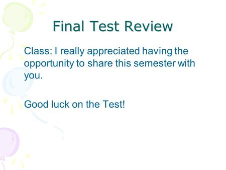 review class i really appreciated the