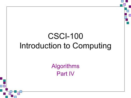 CSCI-100 Introduction to Computing