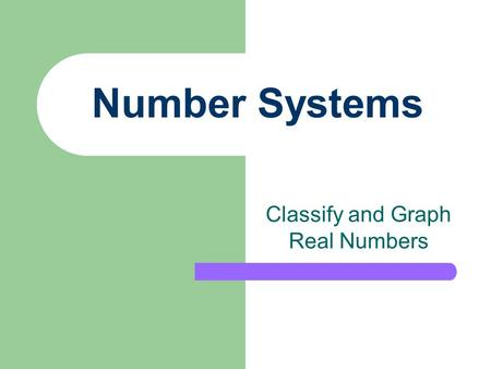 Number Systems Classify and Graph Real Numbers. Mississippi Jones County Ellisville Where do You Live?