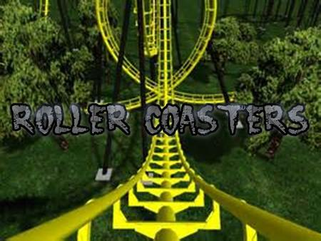 What is a roller coaster? A roller coaster is a fairground attraction that has a light railway track which has many tight turns and steep slopes on which.