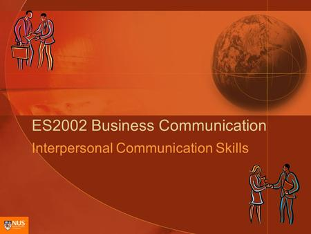 ES2002 Business Communication Interpersonal Communication Skills.