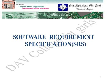 (SRS) SOFTWARE REQUIREMENT SPECIFICATION(SRS) 1. Topics to be discussed.. What is an SRS? Purpose of an SRS Who reads the SRS? Who writes the SRS? Characteristics.