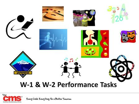 "W-1 & W-2 Performance Tasks. CMS Expectations The 2013-2014 CMS Non-Negotiables for all grade bands clearly state: ""All teachers are required to have."