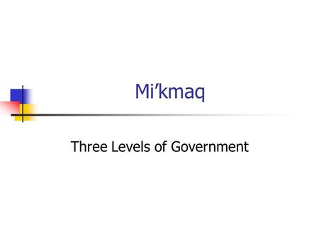 Three Levels of Government