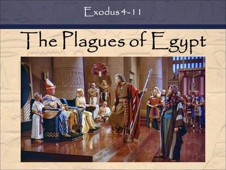 The Plagues of Egypt Exodus 4-11. Who is your (current) best friend? Is s/he similar or different than you? Exodus 4:27-30 Who is your (current) bully?