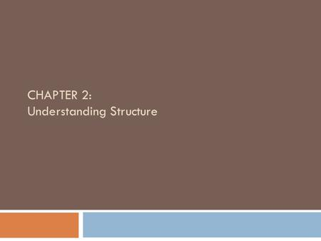 CHAPTER 2: Understanding Structure. Objectives 2  Learn about the features of unstructured spaghetti code  Understand the three basic structures: sequence,