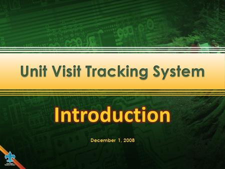 Unit Visit Tracking is available through MyScouting for commissioners to electronically submit unit visit reports.