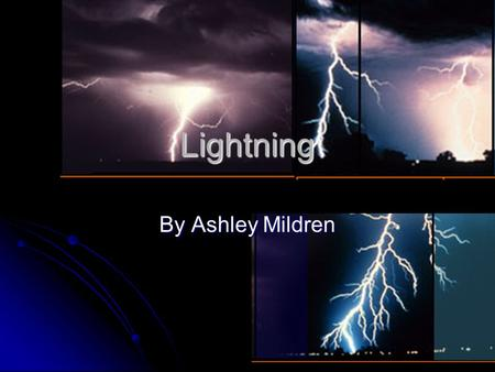 Lightning By Ashley Mildren. How Rain Formes Lightning comes from thunder clouds, known as cumulonimbus. These are created when hot moist air rises in.