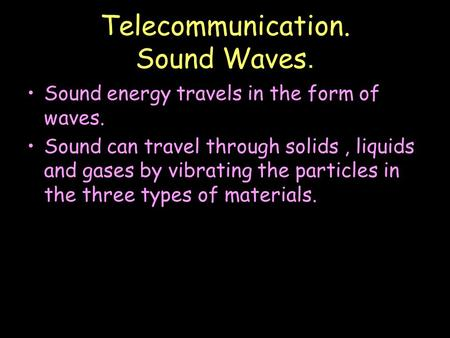 Telecommunications & Lasers - Union College