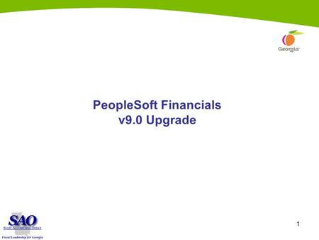 1 PeopleSoft Financials v9.0 Upgrade. 2 Commitment Control.