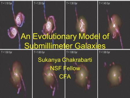 An Evolutionary Model of Submillimeter Galaxies Sukanya Chakrabarti NSF Fellow CFA.