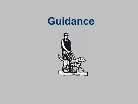 Guidance. What is Guidance? If it helps you to decide on a forecast, then it is guidance.