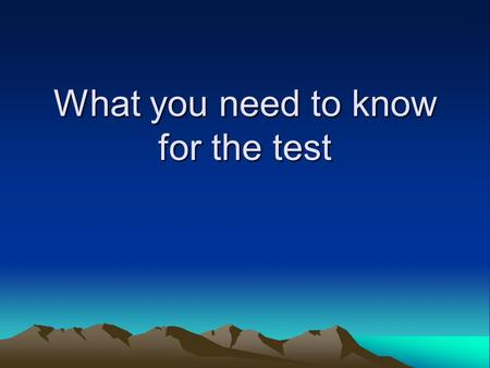What you need to know for the test. Points 9 – Reading comprehension questions 5 – Translation 15 – Characters 29 – Grammar 22 – Vocabulary Checklist.