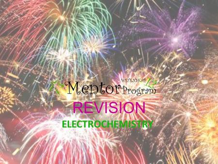 REVISION ELECTROCHEMISTRY. OXIDATION is a loss of electrons An increase in oxidation number REDUCTION is a gain of electrons A decrease in oxidation number.