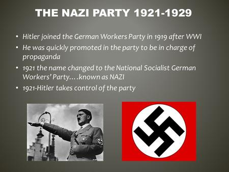 why did hitler and nazi party lose support 1924 1929 The nazis adolf hitler left wwi disillusioned and bitter this became known as the nazi party why were the germans unwilling to support the weimar republic.