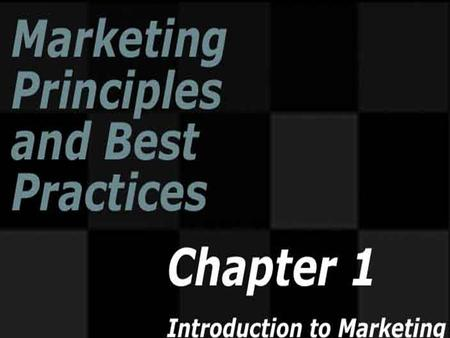 Copyright ©2005 by South-Western, a division of Thomson Learning. All rights reserved. Introduction to Marketing.