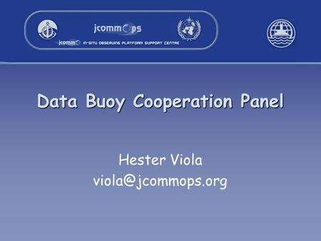 Data Buoy Cooperation Panel Hester Viola