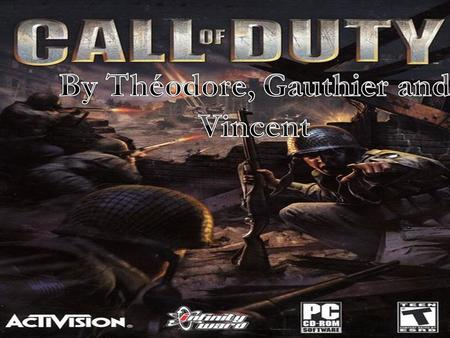 ,, By Infinity Ward and Activision, Released November 9, 2007 in France on PC, PS3, Mac, Xbox, Nintendo, Under 16 Under 16, Over 15 million games sold.