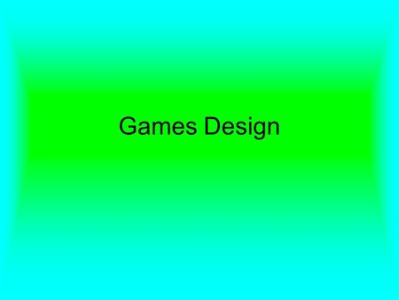 Games Design. A video game designer develops the layout, concept and game play of a video game. A game designer works for a developer (which may additionally.