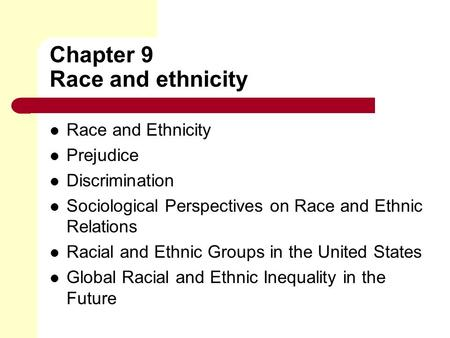defining terms race ethnicity prejudice and