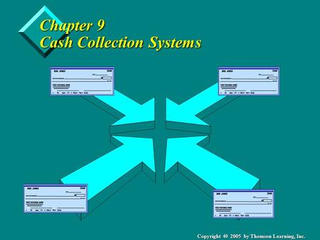 Copyright  2005 by Thomson Learning, Inc. Chapter 9 Cash Collection Systems.