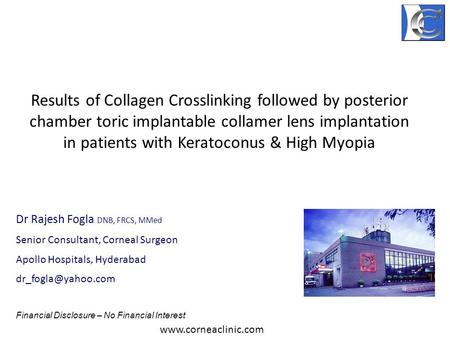 Results of Collagen Crosslinking followed by posterior chamber toric implantable collamer lens implantation in patients with Keratoconus & High Myopia.