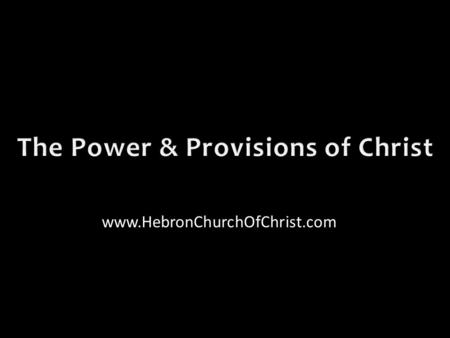 Www.HebronChurchOfChrist.com. Looking at men can discourage us ✶ Corruption of leaders ✶ Sinfulness of society ✶ Weakness of brethren.