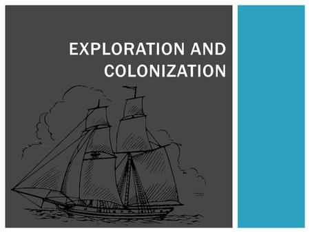 EXPLORATION AND COLONIZATION. Searching for New Trade Routes Before the age of Exploration, people believed that Europe, Asia, and Africa were the only.