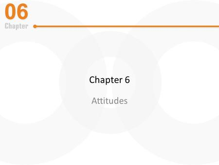 Chapter 6 Attitudes. What is an Attitude? A positive, negative, or mixed reaction to a person, object, or idea expressed at some level of intensity.