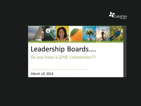 Leadership Boards…. Do you have a LOVE Connection?? March 13, 2013.