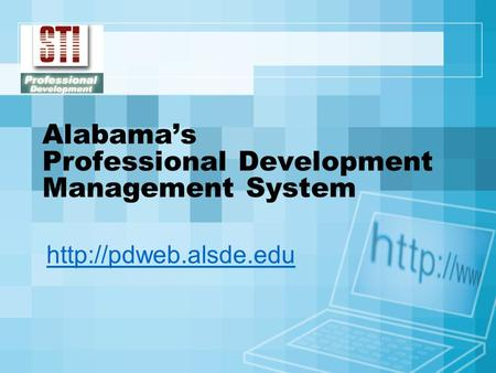 Alabama's Professional Development Management System