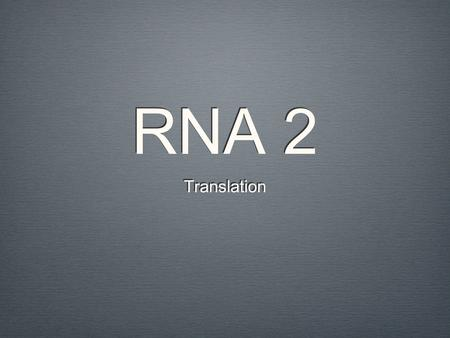 RNA 2 Translation. Big Picture TraitProteinGeneDNA 4 bases Base paring Double helix Segment of specific location. Instructions for making Proteins.