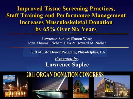 2011 ORGAN DONATION CONGRESS