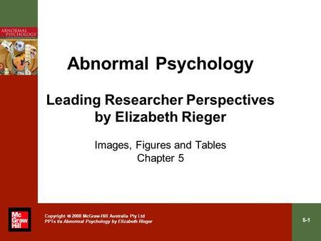 Abnormal psychology edition 3 elizabeth rieger pdf