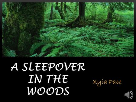 Xyia Pace A SLEEPOVER IN THE WOODS There once was a small bunny named Snowball who had three bunny friends named Snowy, Creamy, and Puffball. They always.